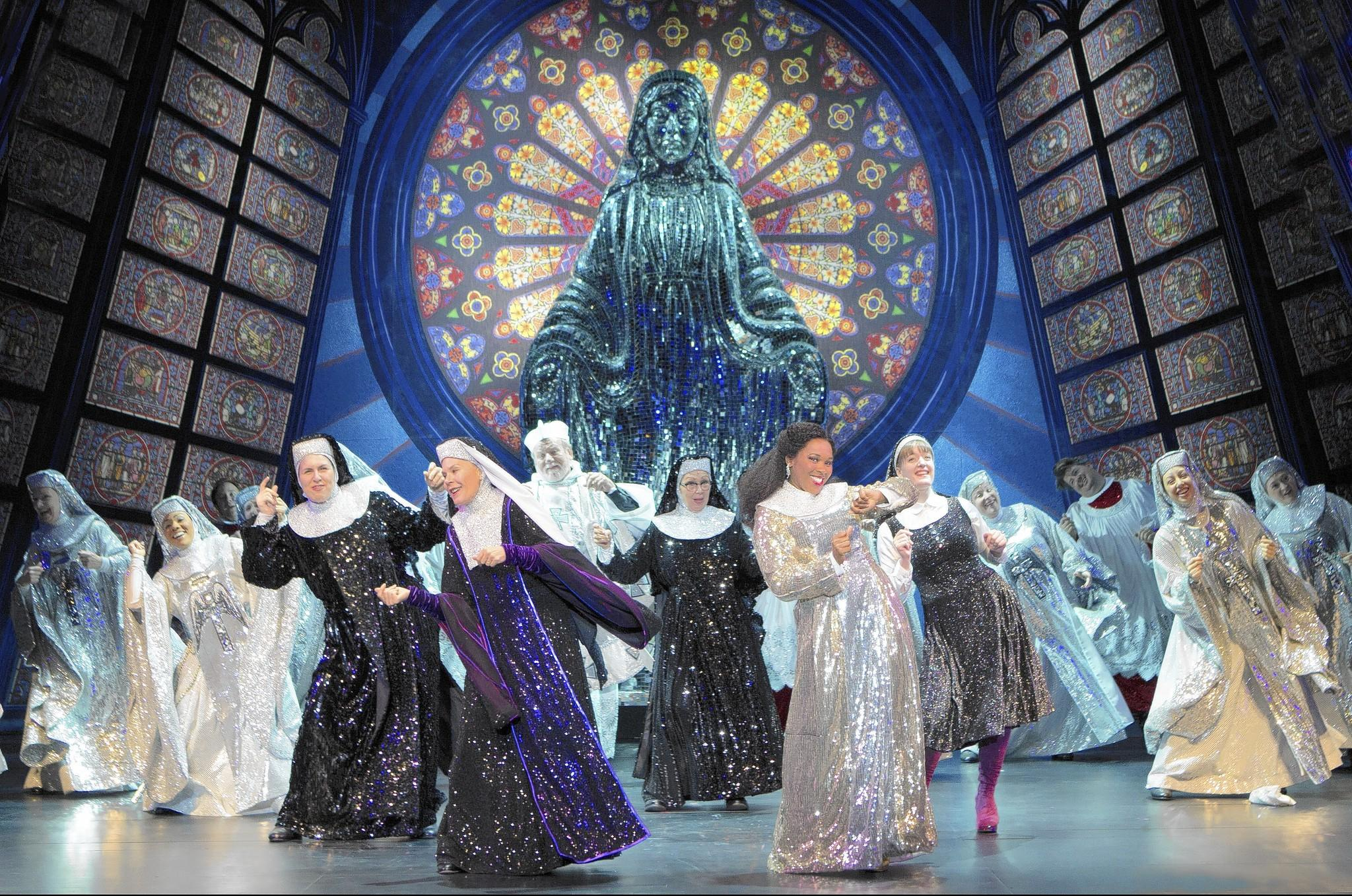 "A scene from the national tour of the musical ""Sister Act."""