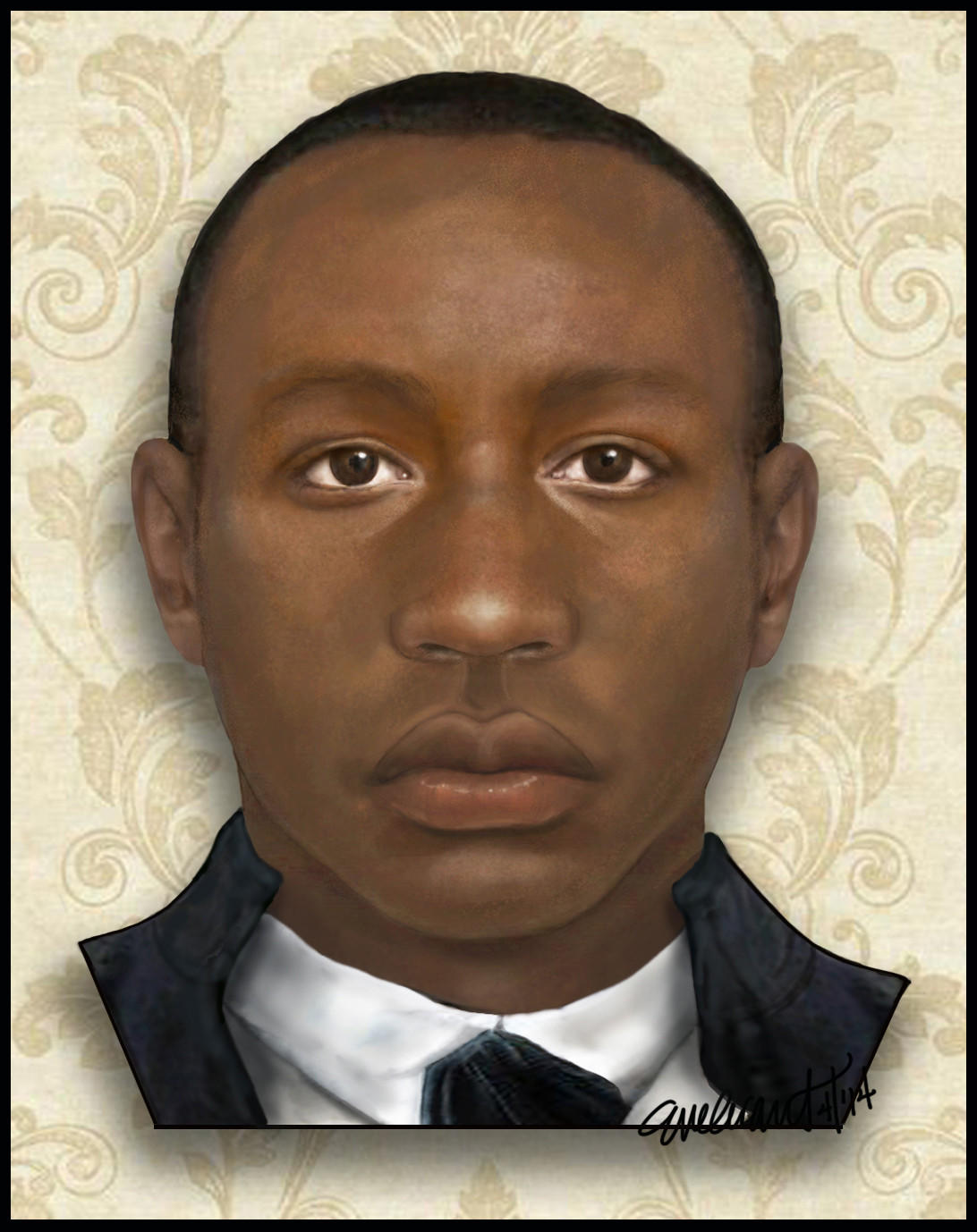 "Baltimore County Detective Evelyn Grant, a forensic artist, used skull bones and artifacts found on a farm in southern Maryland to create a ""facial reconstruction"" and body sketch of a young man, dubbed ""Lazarus,"" who may have been an African slave in the late 1700s."