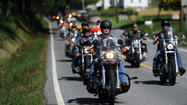 Motorcycle memorial honors police officer killed in Catonsville
