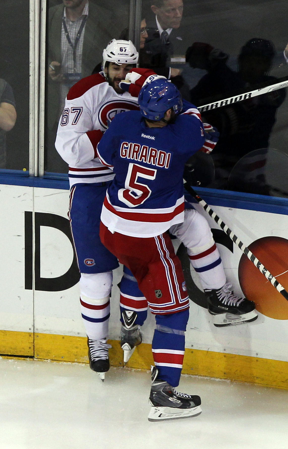 Rangers defenseman Dan Girardi, seen here checking Montreal Canadiens left wing Max Pacioretty in game six of the Eastern Conference Finals, is one of 10 players on the Rangers who spent time with the Hartford Wolf Pack.