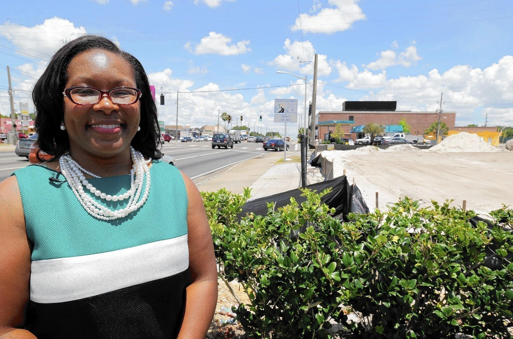 Commissioner Tiffany Moore Russell explains some of the challenges in Pine Hills and its signature intersection at Silver Star Road.