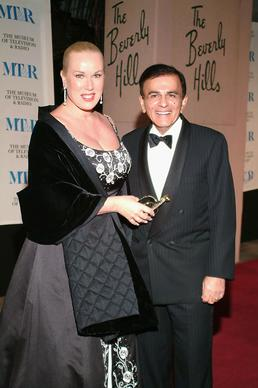 Casey Kasem and his wife, Jean, arrive at the Museum of Television and Radio's gala tribute to Barbara Walters at the Beverly Hills Hotel in 2004.