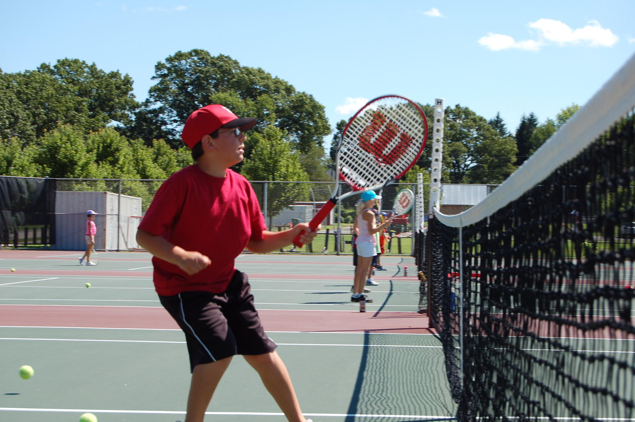 Parks and Recreation Department to run a free tennis clinic.