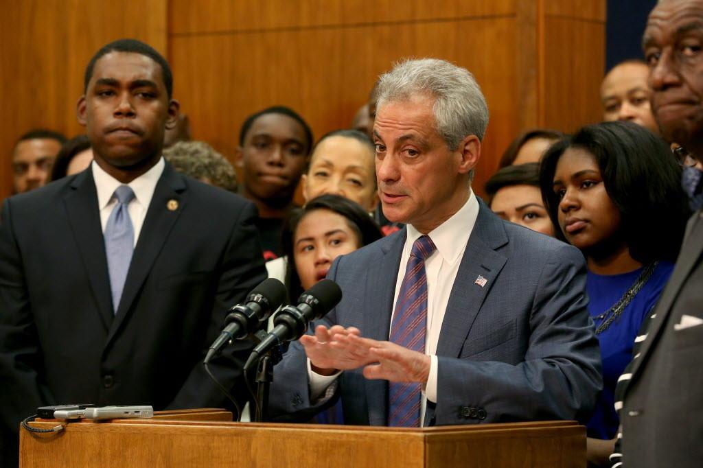 Mayor Rahm Emanuel on Monday discussed recently passed legislation to expunge juvenile arrest records.