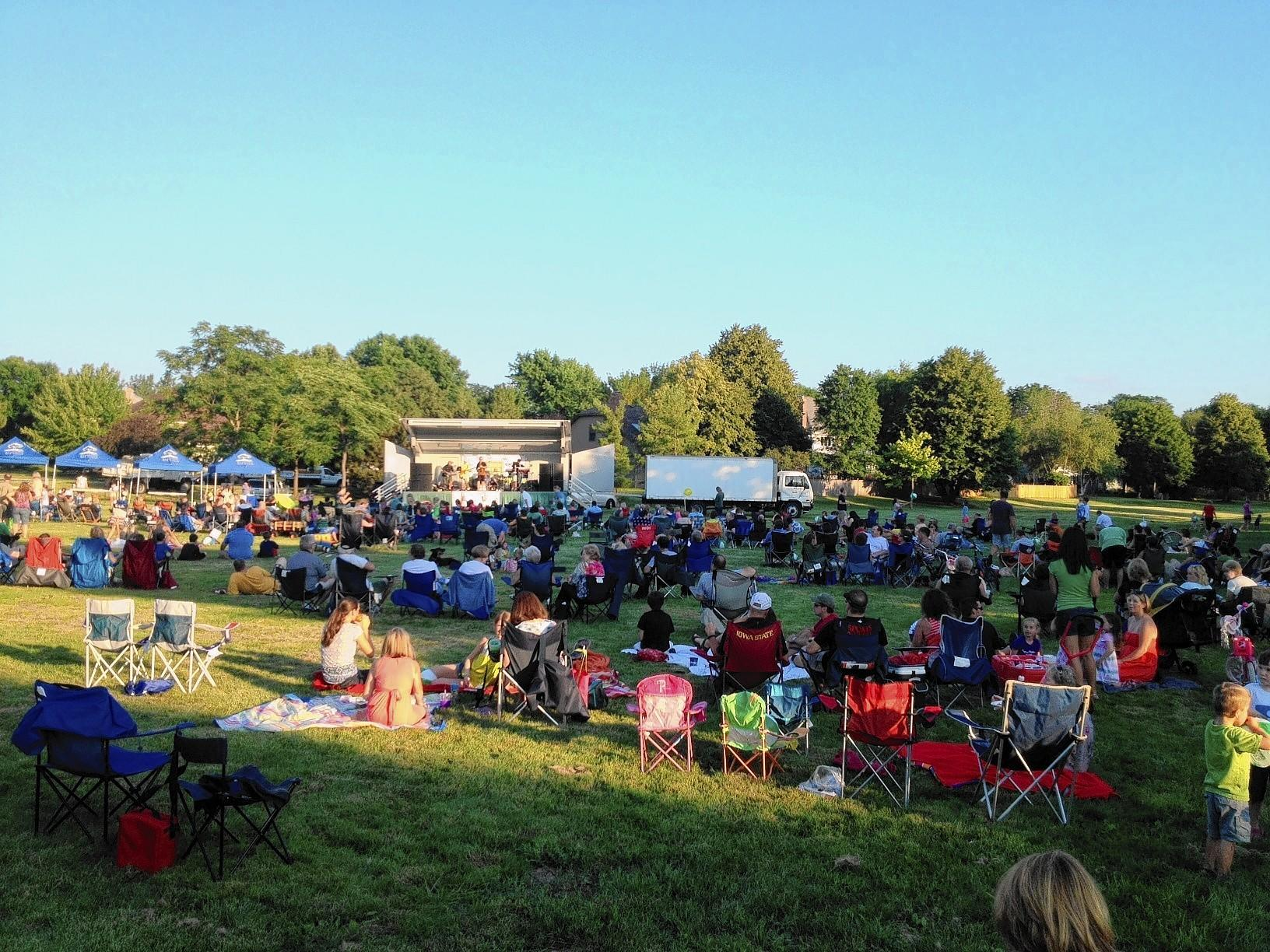A number of free summer concerts are lined up for Naperville.