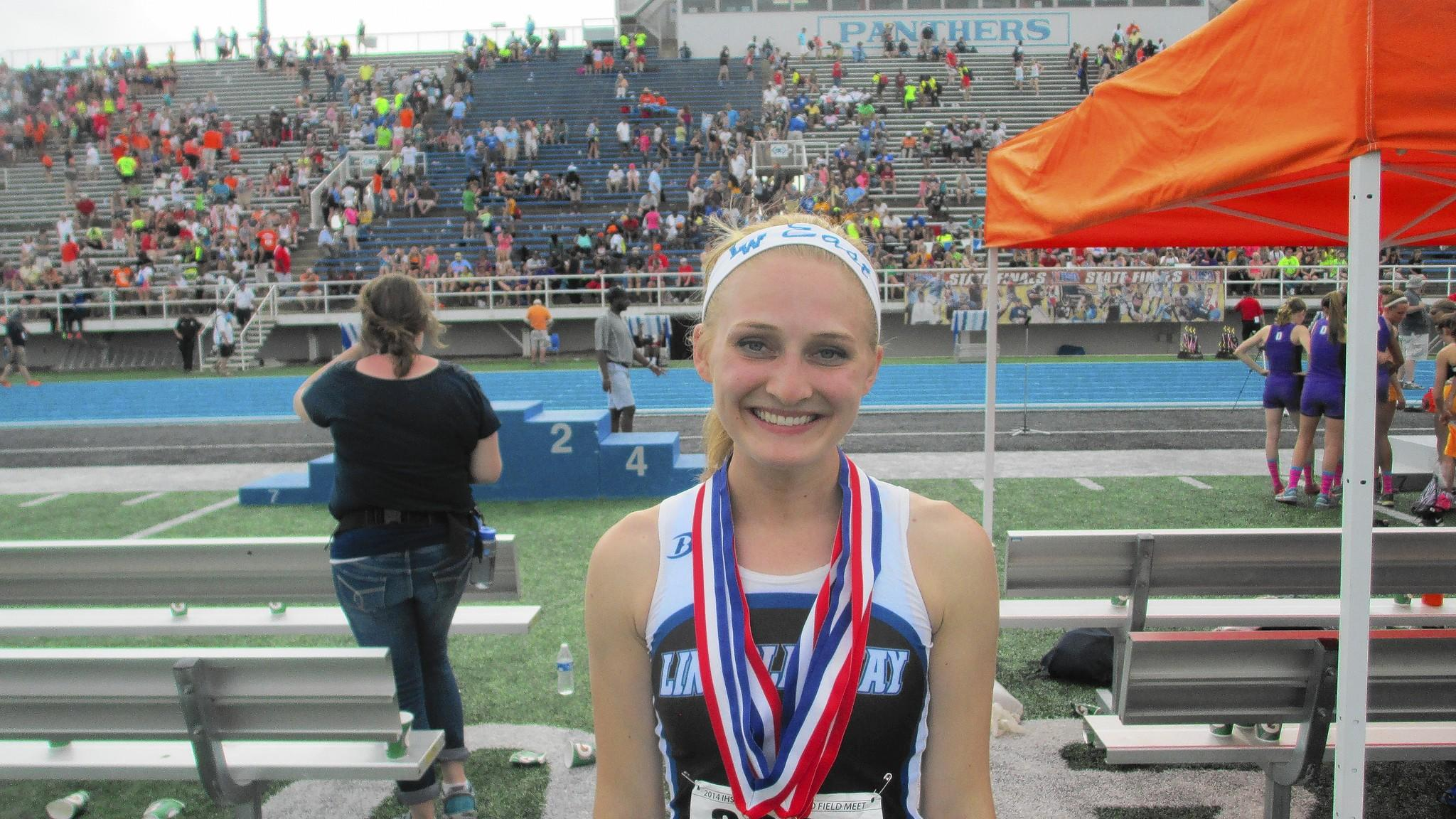 Meghan Marias was a central figure in the Lincoln-Way East Griffins' running away with their second consecutive team championship.