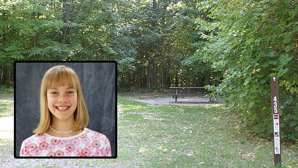 Allison Spahr, 11, (inset) was killed while camping with her family in Wisconsin.