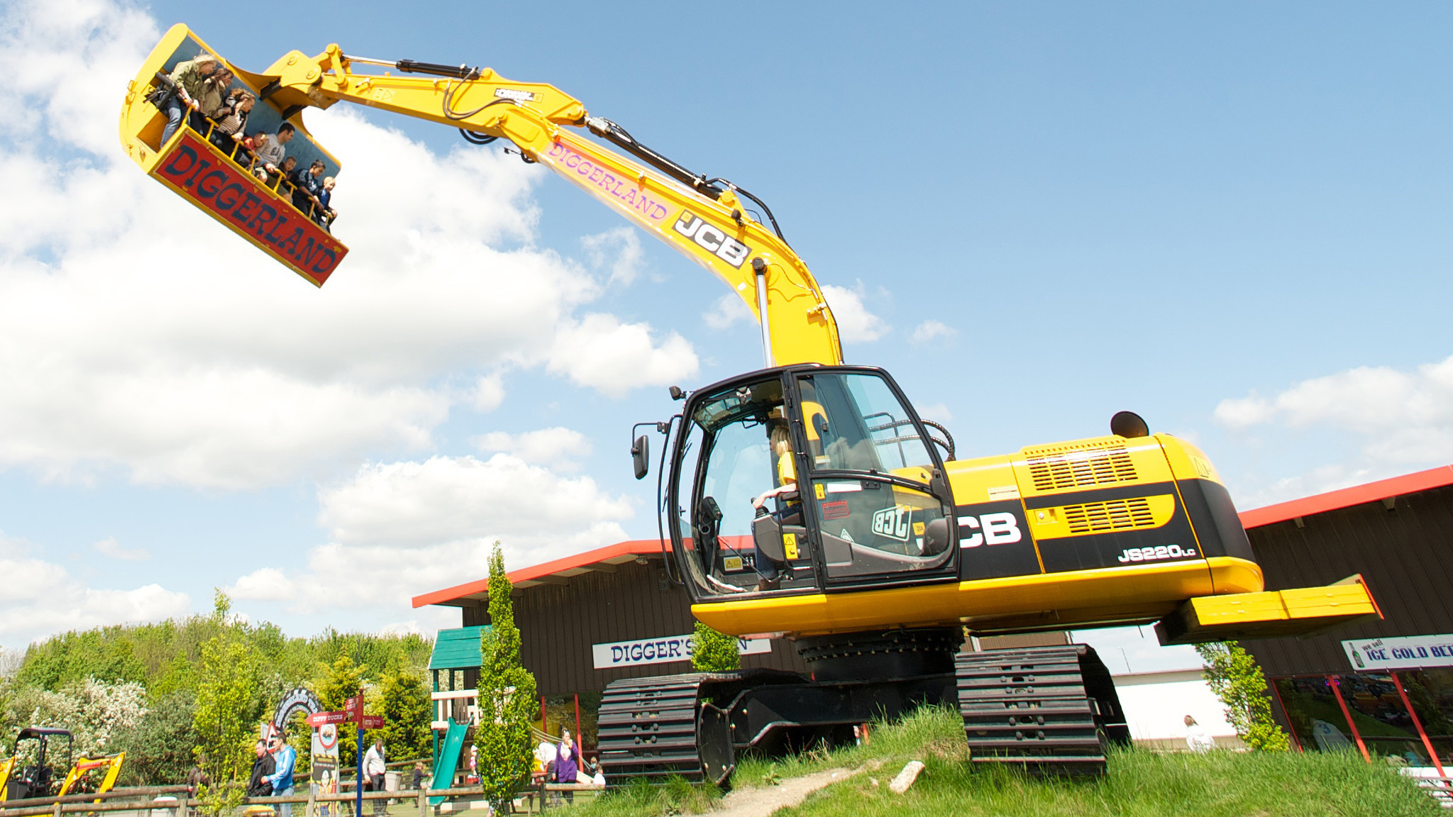 diggerland amusement park lets kids operate construction equipment