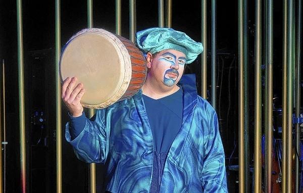 "Damien Corideo is a percussionist with Cirque du Soleil ""Varekai."""