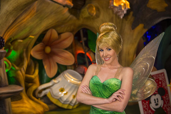 Tinker Bell's Walt Disney World home has moved for a fourth time in 2014. Tinker Bell's Magical Nook, which had been located in Adventureland is now located in the new Garden Theater, off of the Town Square Theater off Main Street, U.S.A. Visitors can now use the FastPass  option for the meet-and-greet attraction.