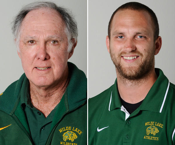 Whitty Bass and Chris Brewington, of Wilde Lake, are the boys track and field Coaches of the Year.