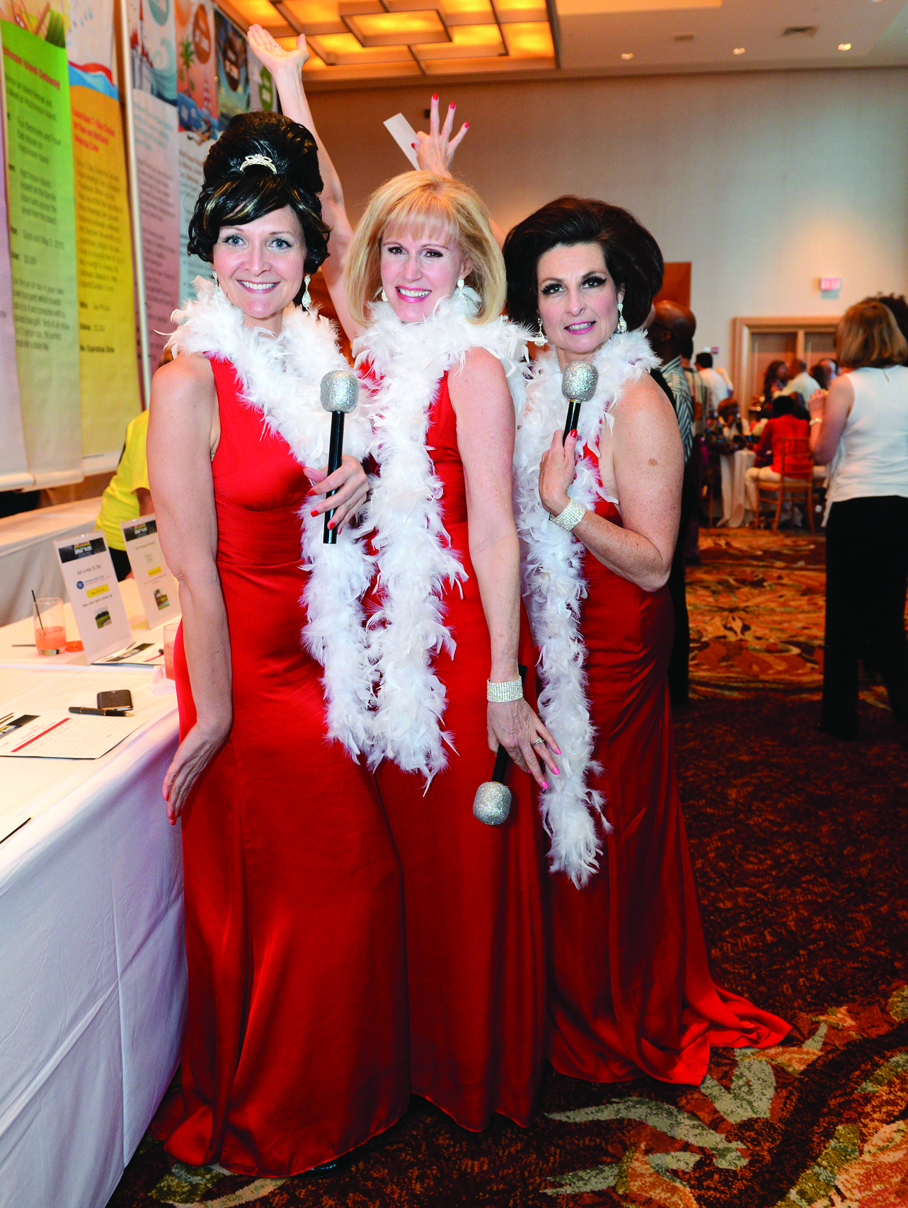 Society Scene photos - April Kowalski, left, Cynthia Preston and Heidi Greene channeled the Supremes for Broward Education Foundation