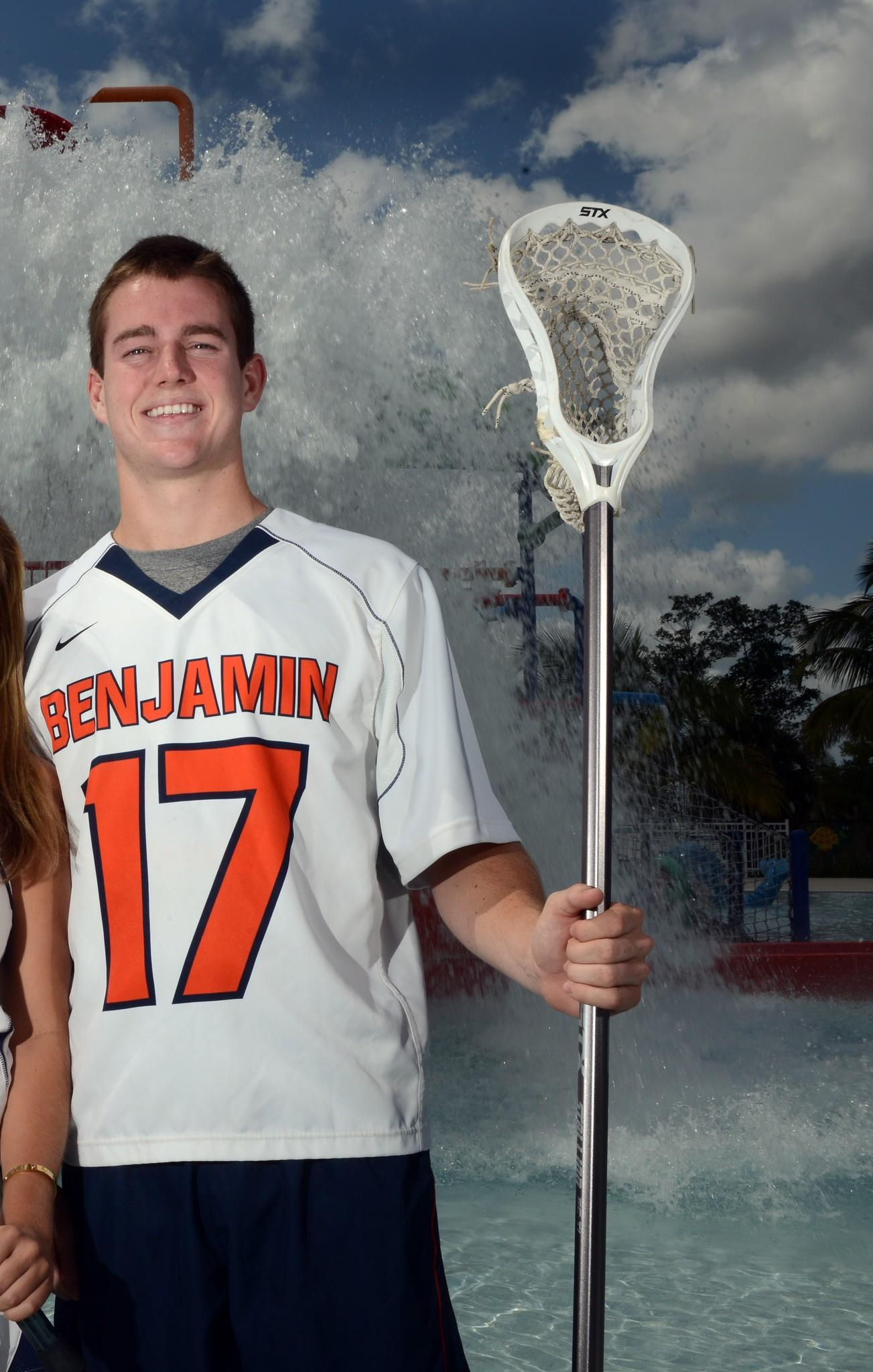 Benjamin's Jerry O'Connor is the Boys Lacrosse Player of the Year