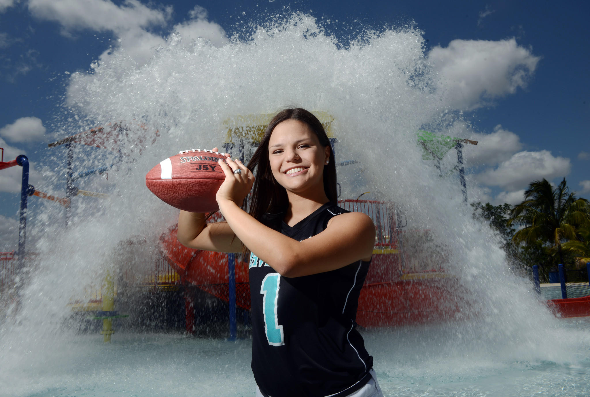 Archbishop's Melissa Jara is the Broward flag football Player of the Year.