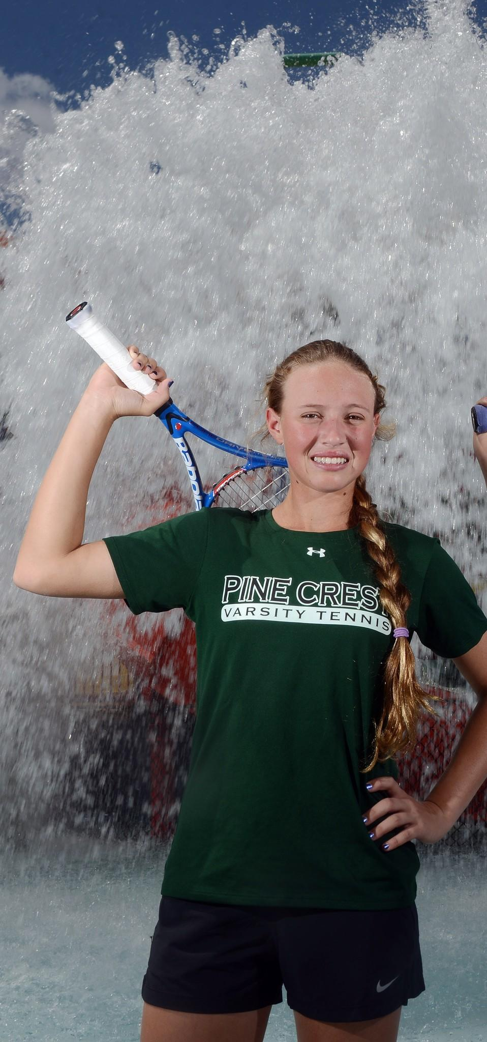 Pine Crest's Stephanie Taylor is the Broward girls tennis Player of the Year.