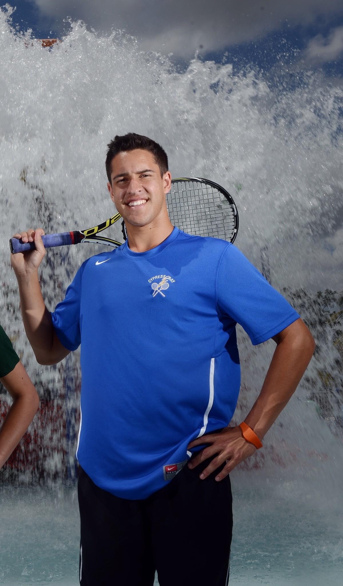 Cypress Bay's Gianlucca Massa is the Broward County boys tennis Player of the Year.