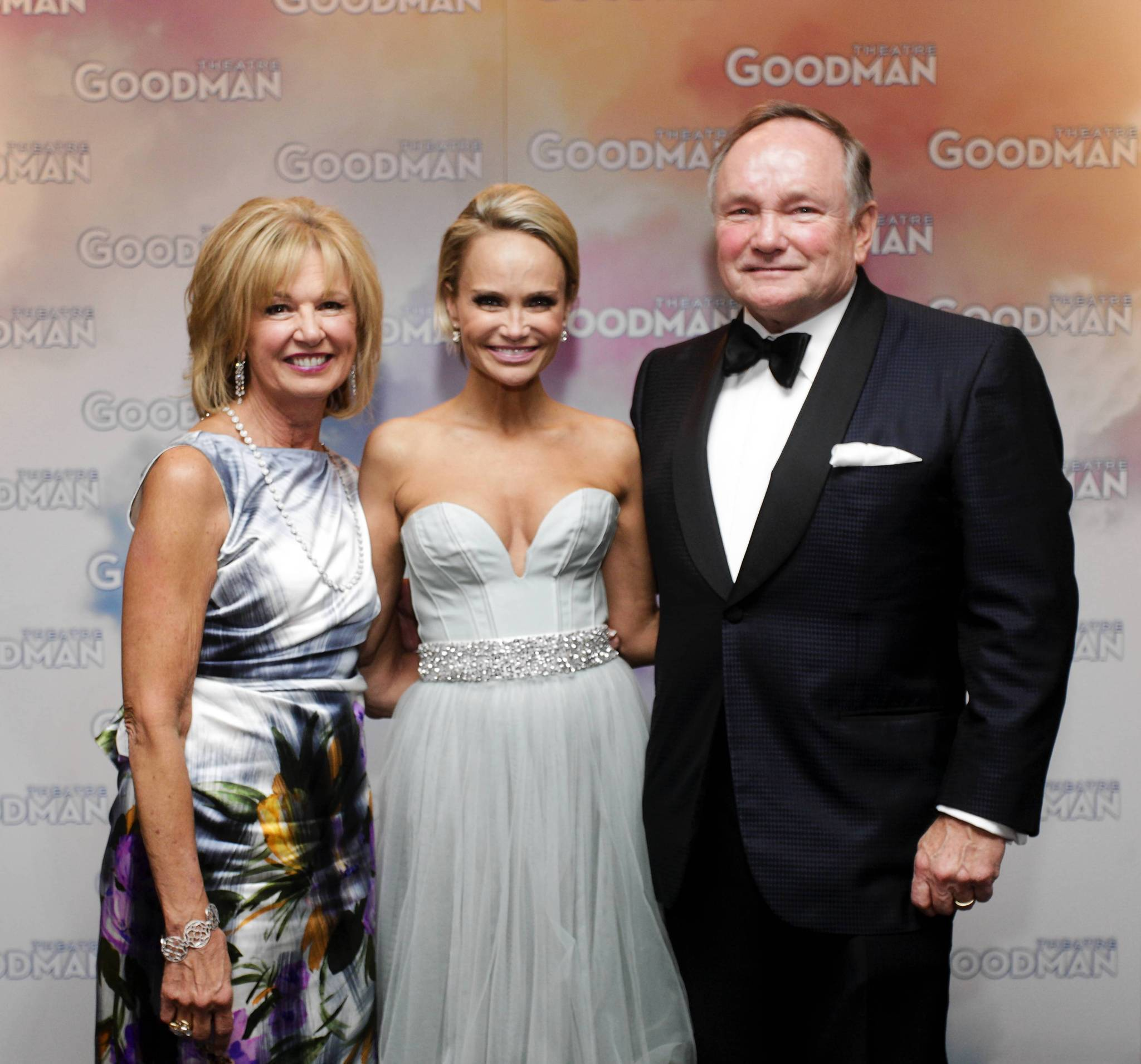 Joan Clifford, Kristin Chenoweth and Robert Clifford during the Goodman Theatre Gala at the Hilton Hotel.