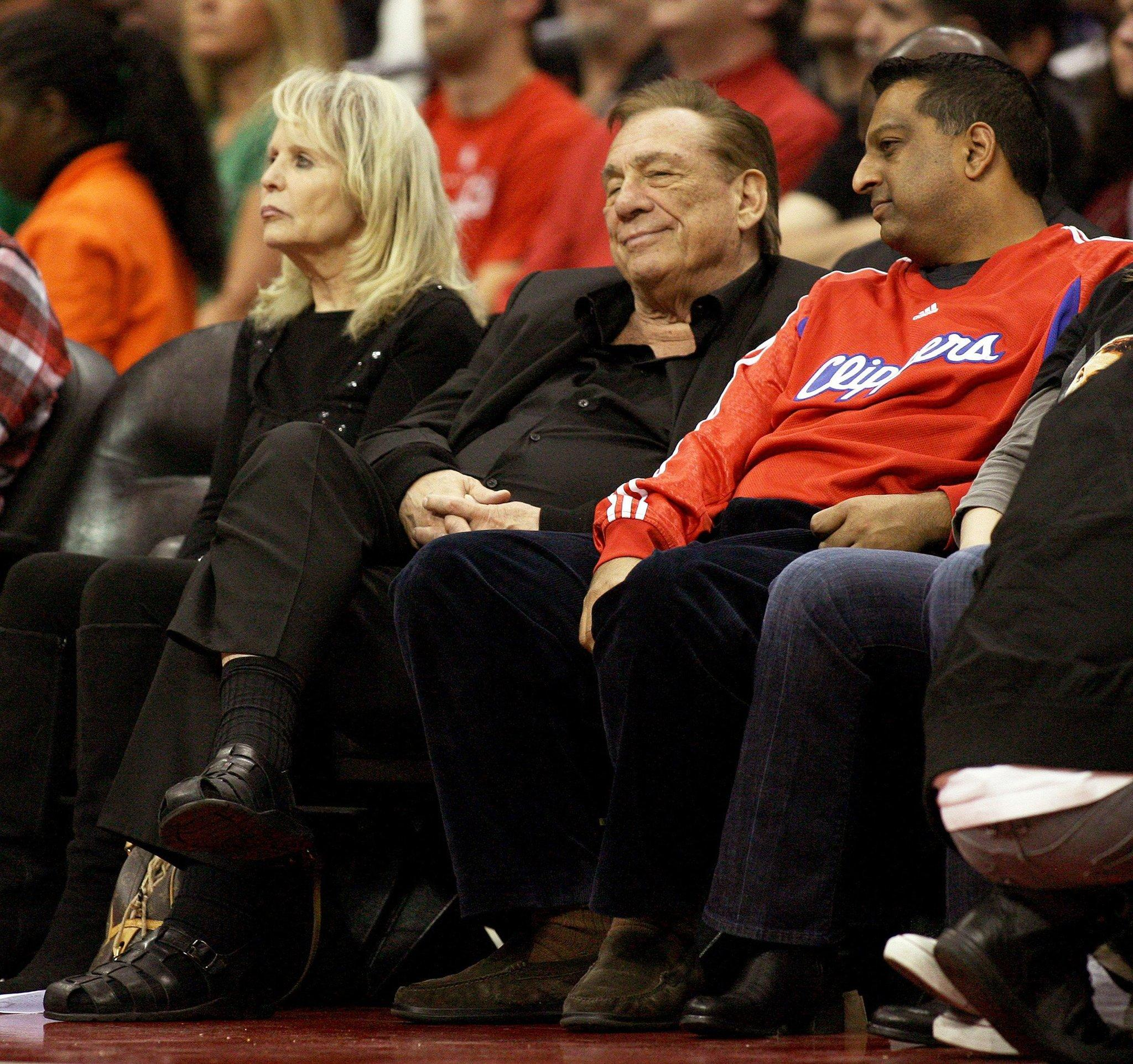 Donald Sterling,owner of the Los Angeles Clippers, watches a game in 2011.