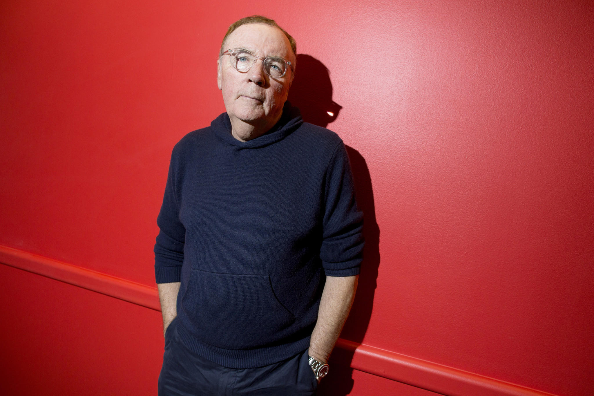 Author James Patterson poses at the Book Expo America convention at the Jacob K. Javits Convention Center in New York on May 31, 2014. Patterson will receive the Chicago Tribune Young Adult Literary Prize at this year's Printers Row Lit Fest.
