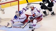 Goalie Henrik Lundqvist cannot save Rangers in the end against Kings