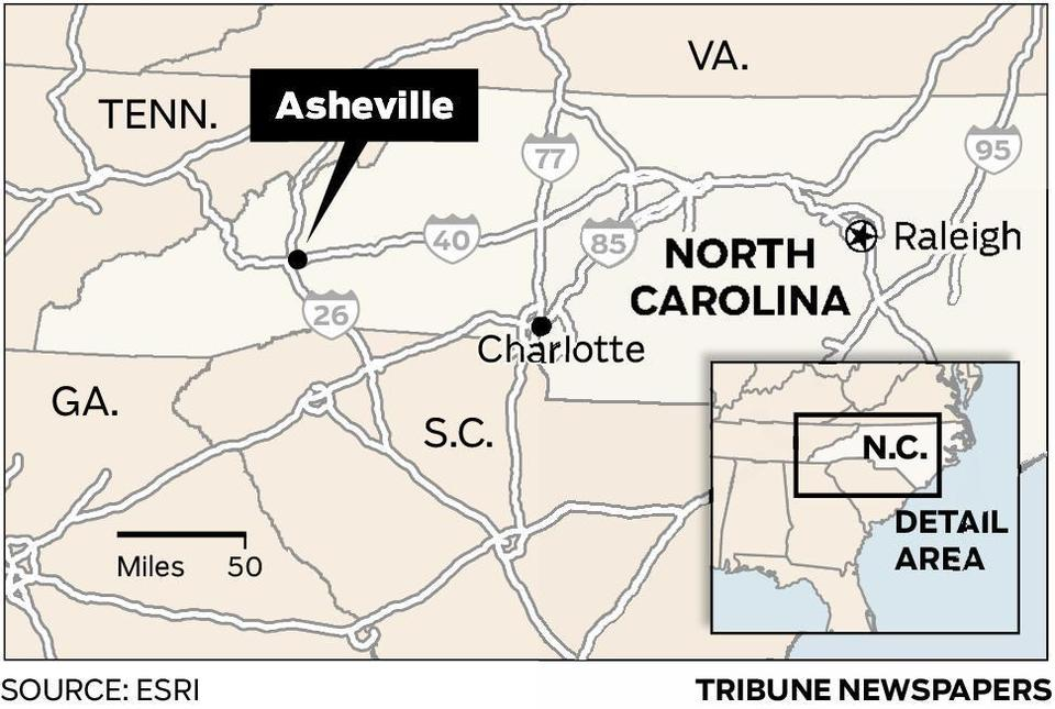 Map Asheville North Carolina  Tidewaterreview
