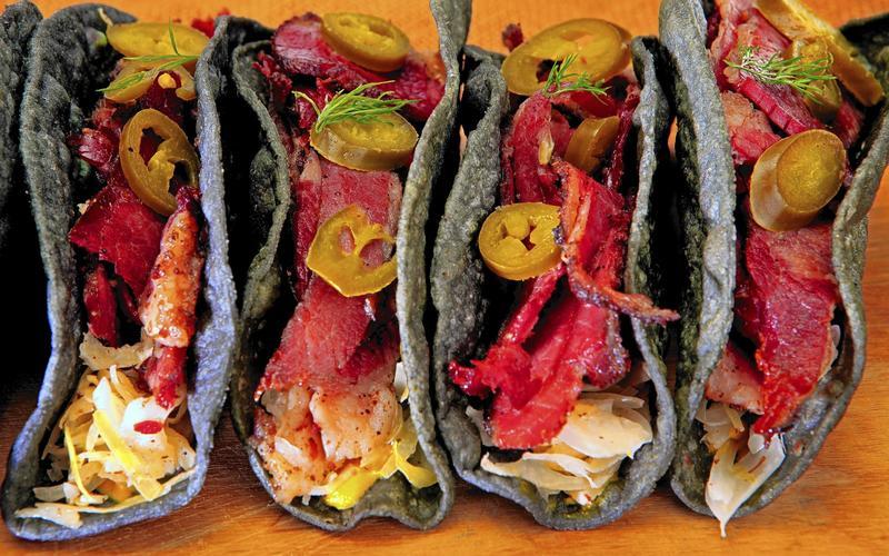 Pastrami tacos