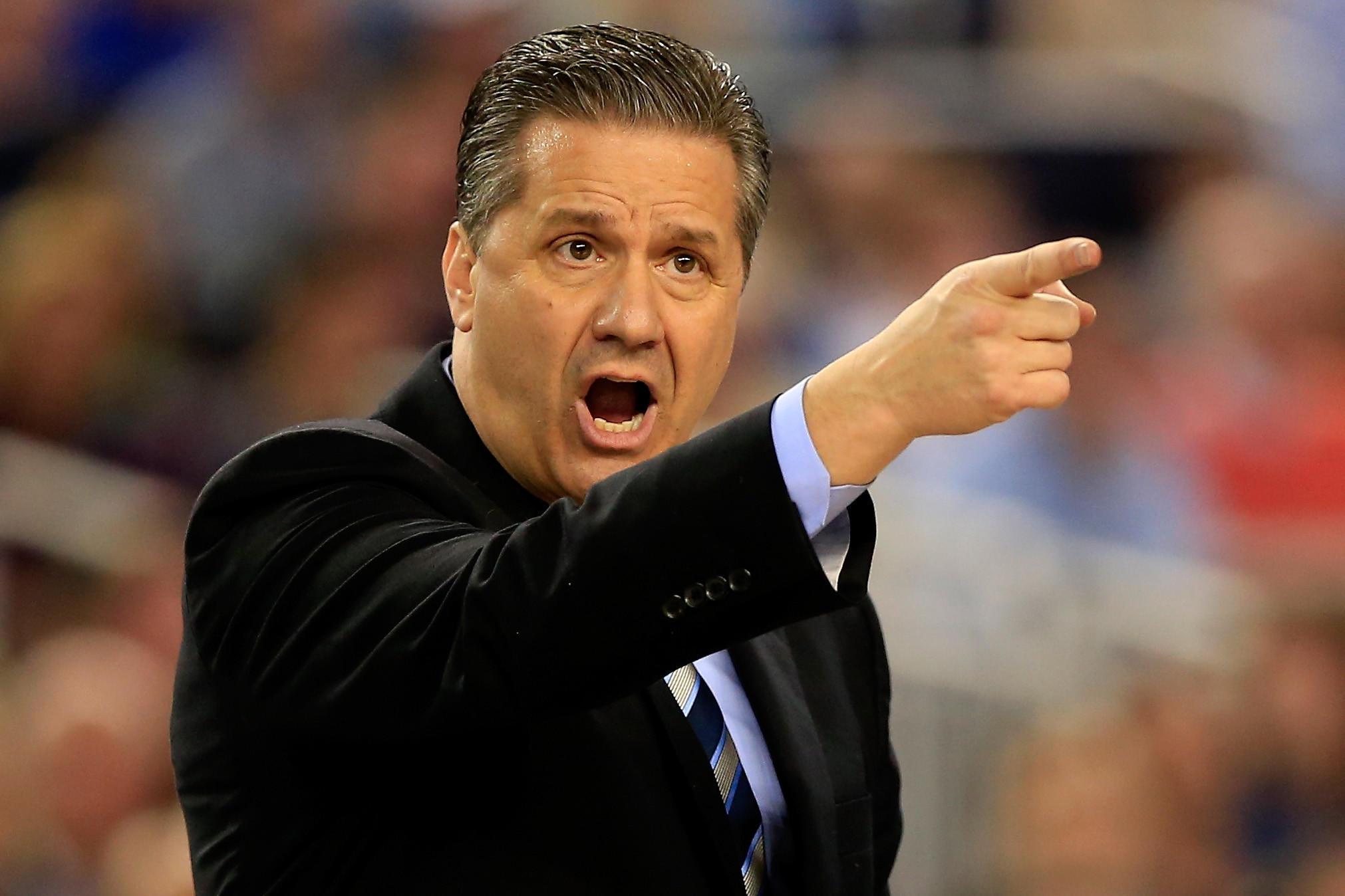 Kentucky head coach John Calipari has signed a 7-year contract worth more than $52 million June 5, 2014.