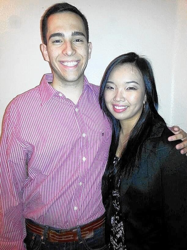 Santiago Diaz Arteaga, 20, and his girlfriend, Jaewon Lim.
