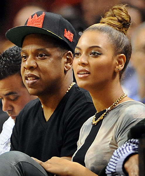 Celebs spotted at Miami Heat games - Jay-Z and Beyonce