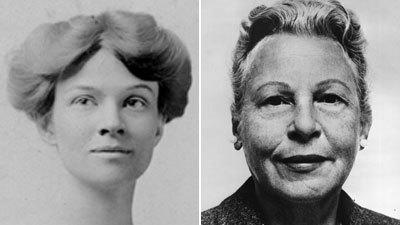 Katharine Houghton Herpburn, left, and Estelle Griswold were both pioneers for women's rights.