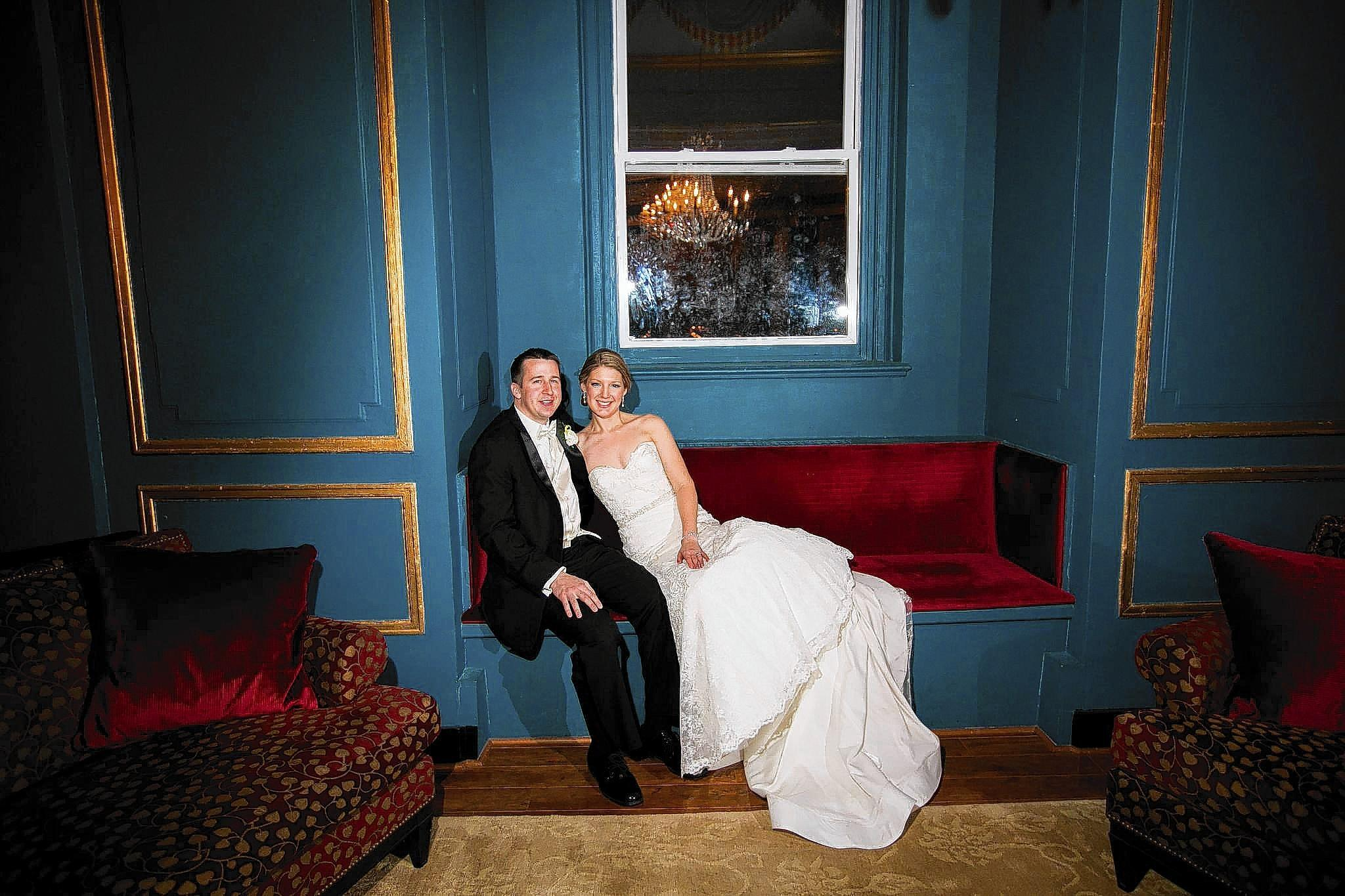 "Kathleen Miller and Michael Pukacz went for a ""timeless and elegant and romantic"" feel for their wedding."