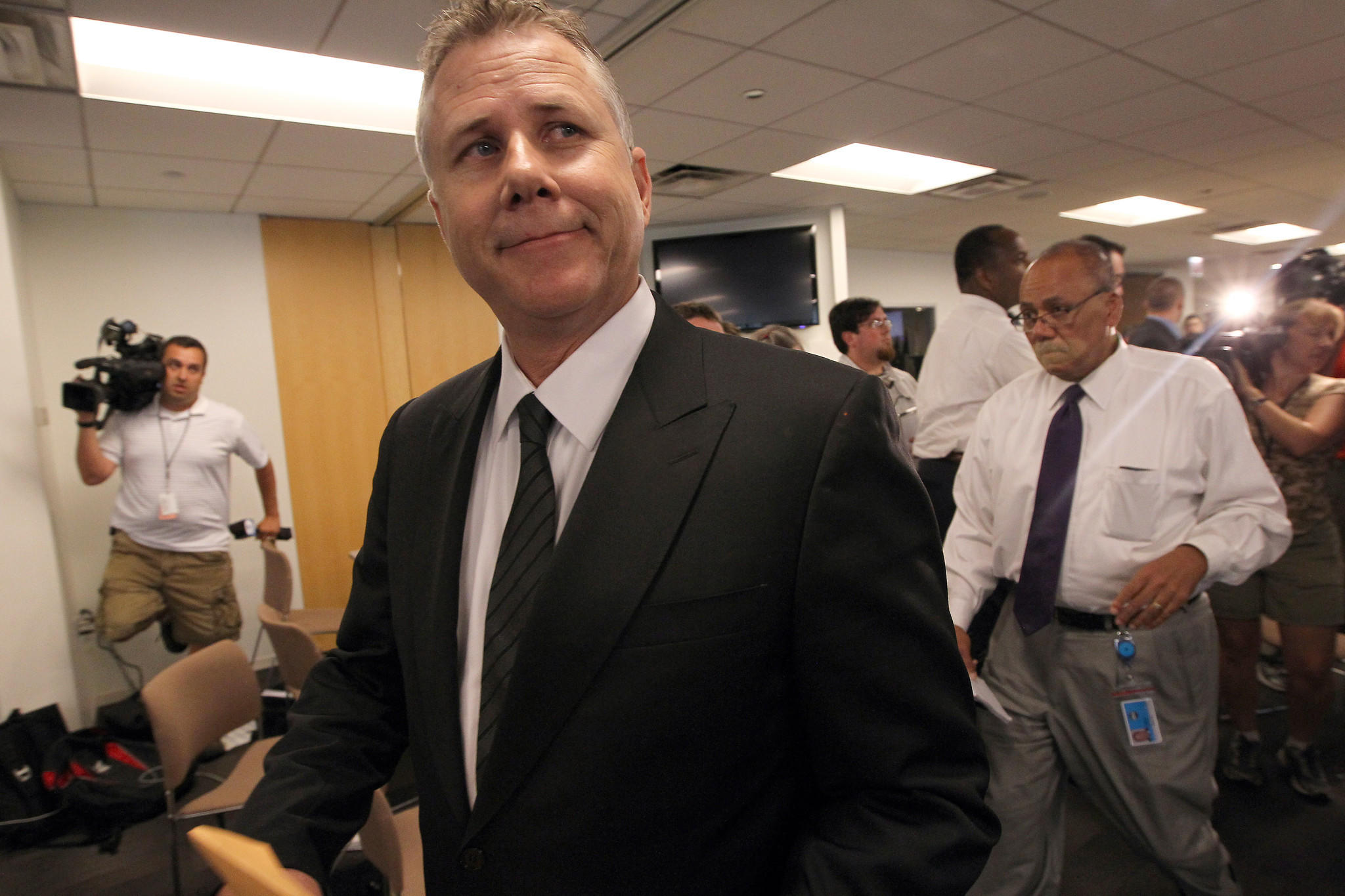 Ousted Metra CEO Alex Clifford during a break in hearings before the RTA board on July 17, 2013.