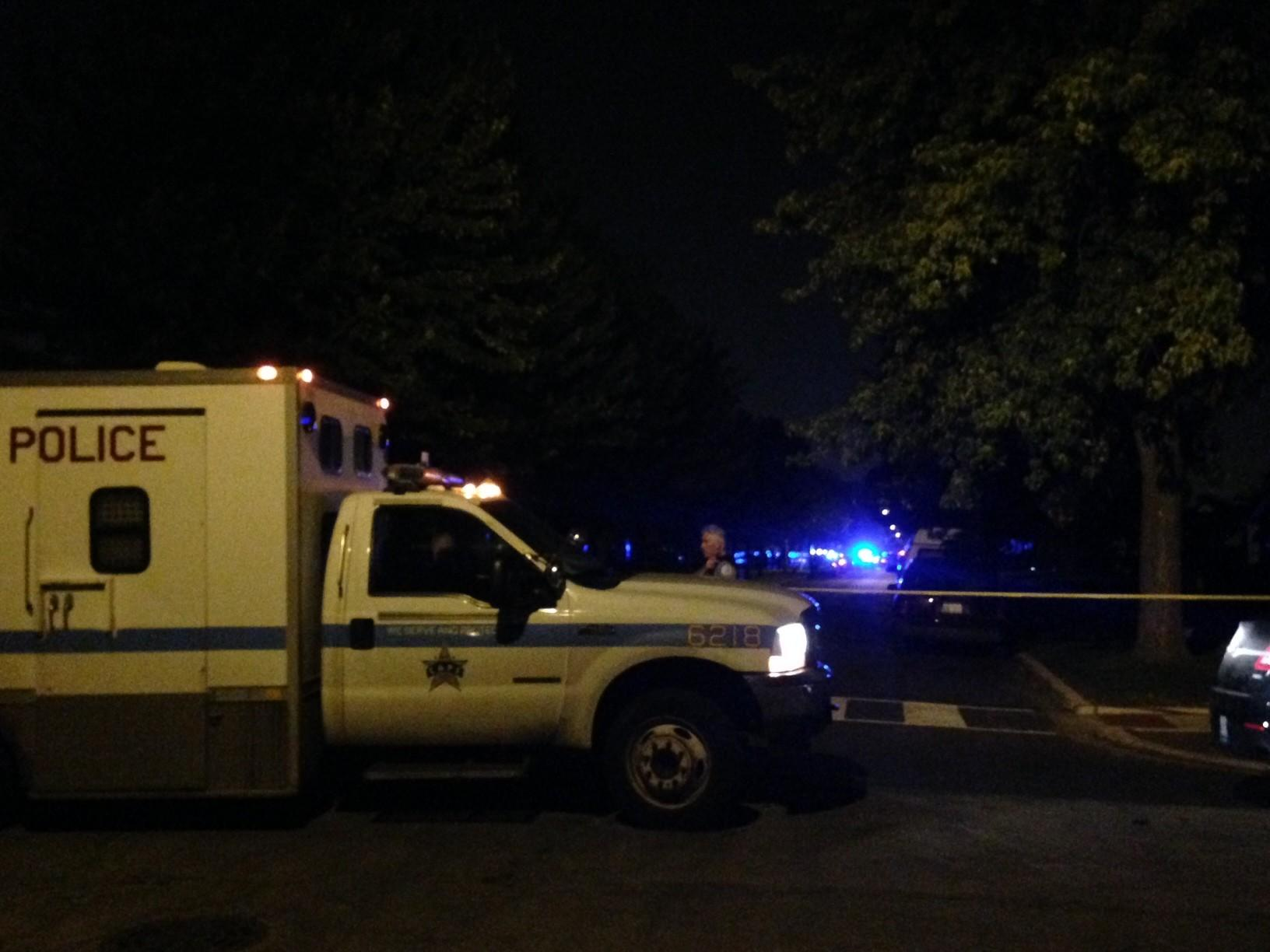 Two Chicago cops were shot at 93 and Wallace streets Friday evening.