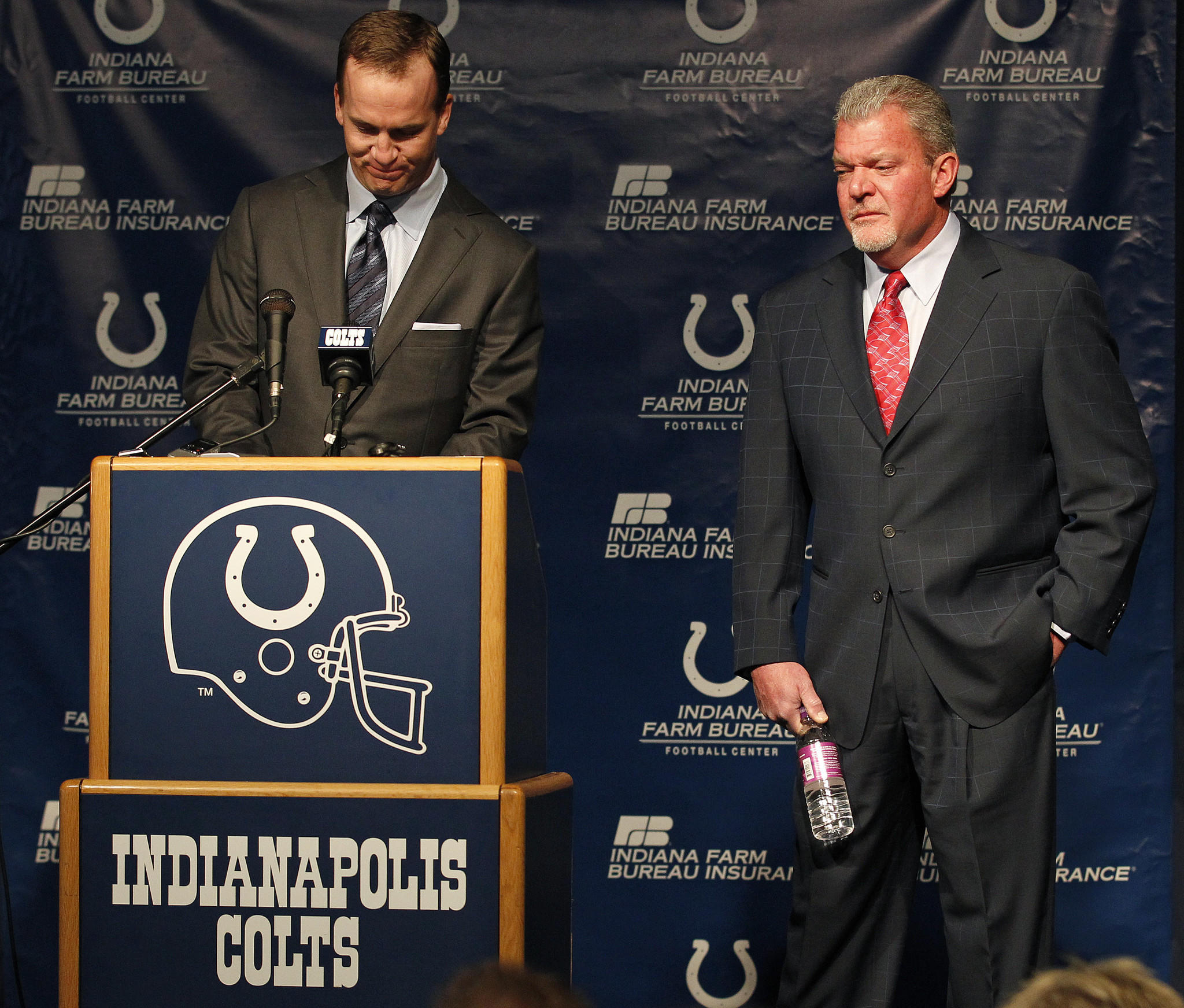 Colts owner Jim Irsay in 2012, when the team cut ties with quarterback Peyton Manning.