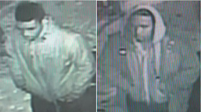 """Surveillance photos of two men suspects of killing Deacon Willie Cooper, 74, a retired CTA driver, and musician Eric """"Guitar"""" Davis, 41, within about half an hour of each other on Dec. 19."""