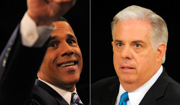 Democrat Lt. Gov. Anthony Brown and Republican Larry Hogan have secured strong advantages over their respective fields.
