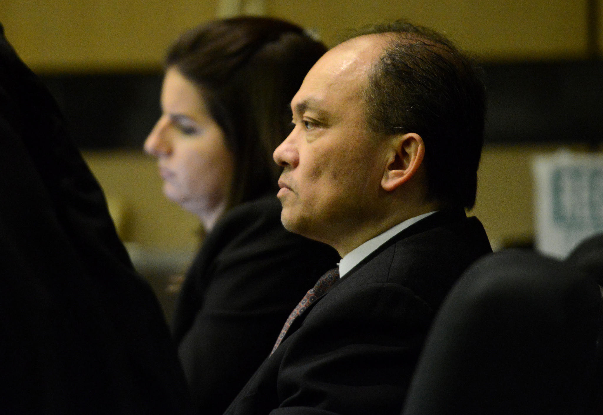 Jimmy Dac Ho, 51, sits in the Palm Beach County Courthouse during his trial for the death of Sheri Carter, 29. On April 17, jurors convicted Ho of first-degree murder. Jim Rassol, Sun Sentinel.