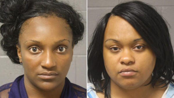 Booking photos of Taleishia Trisby and Denisha White