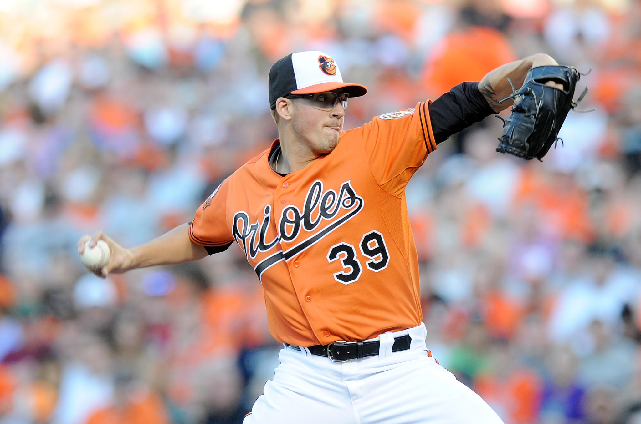 The Orioles' Kevin Gausman won his first major league game as a starter Saturday night.