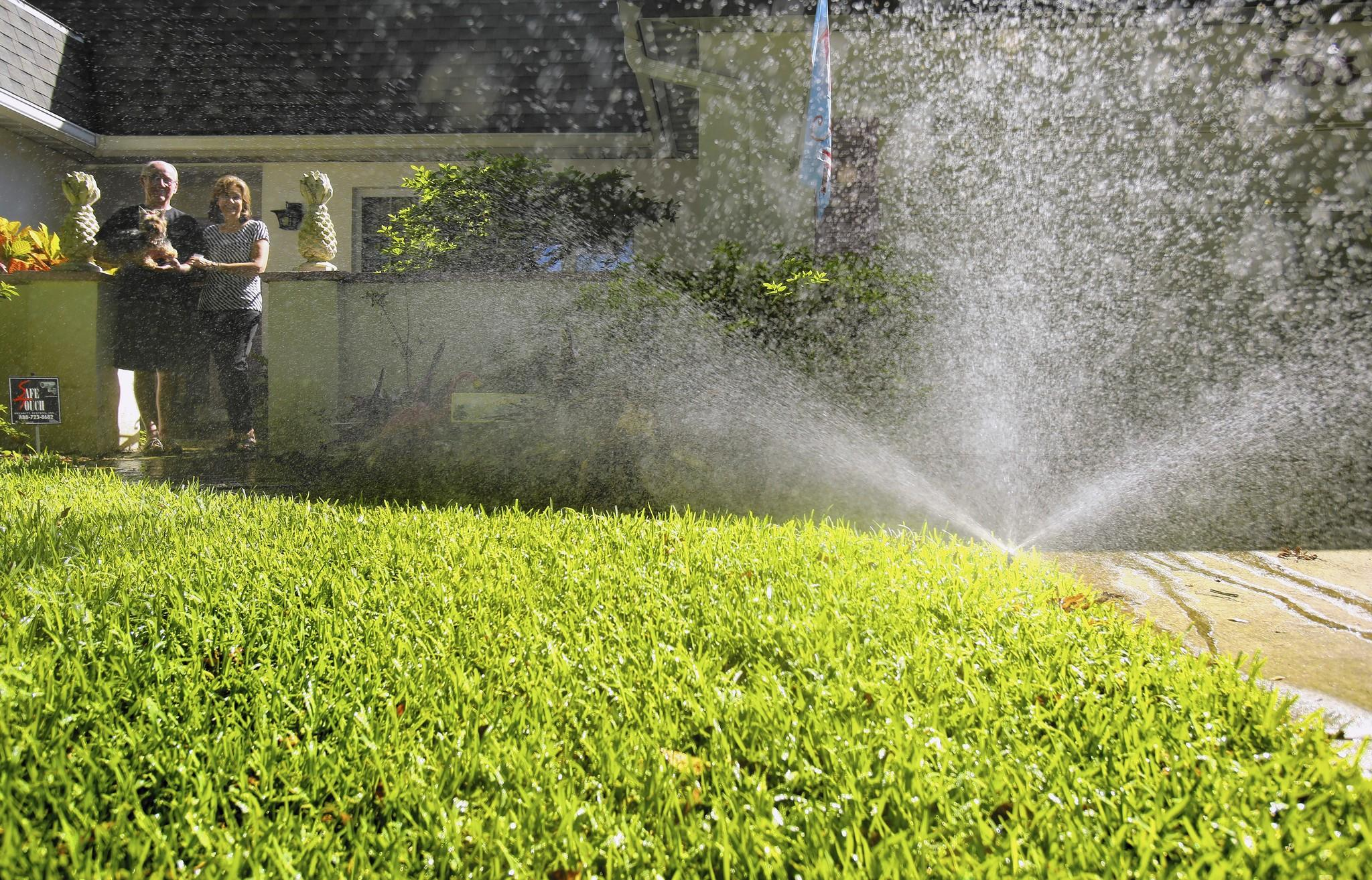 Gail and Don Wright have been using reclaimed water to irrigate their Altamonte Springs lawn since around 1990, when the system first became available to their neighborhood.