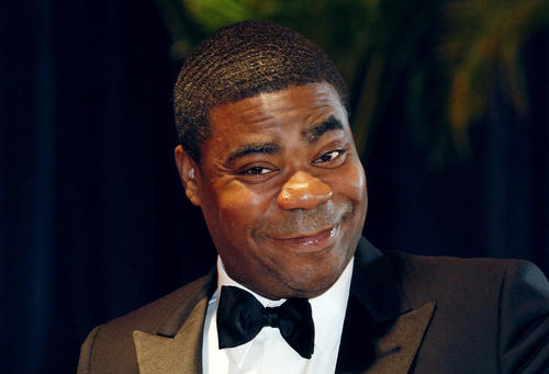 """Comedian Tracy Morgan from the television series """"30 Rock"""" arrives at the White House Correspondents' Association dinner in Washington in this May 1, 2010 file photo."""