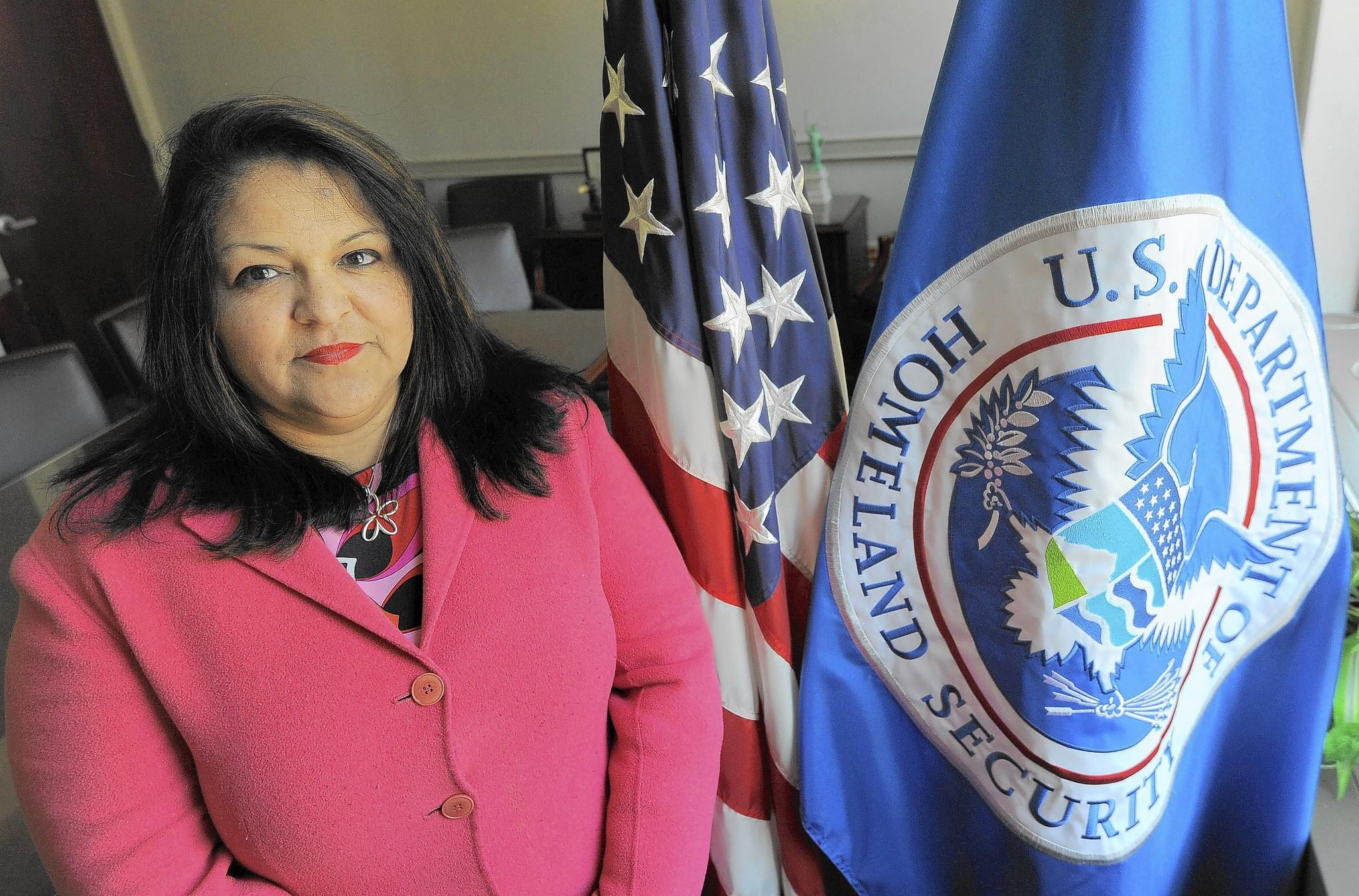Dorothy Herrera-Niles, director of enforcement and removal operations at the U.S. Immigration and Customs Enforcement field office in Baltimore, says she tries to be a role model for younger employees.