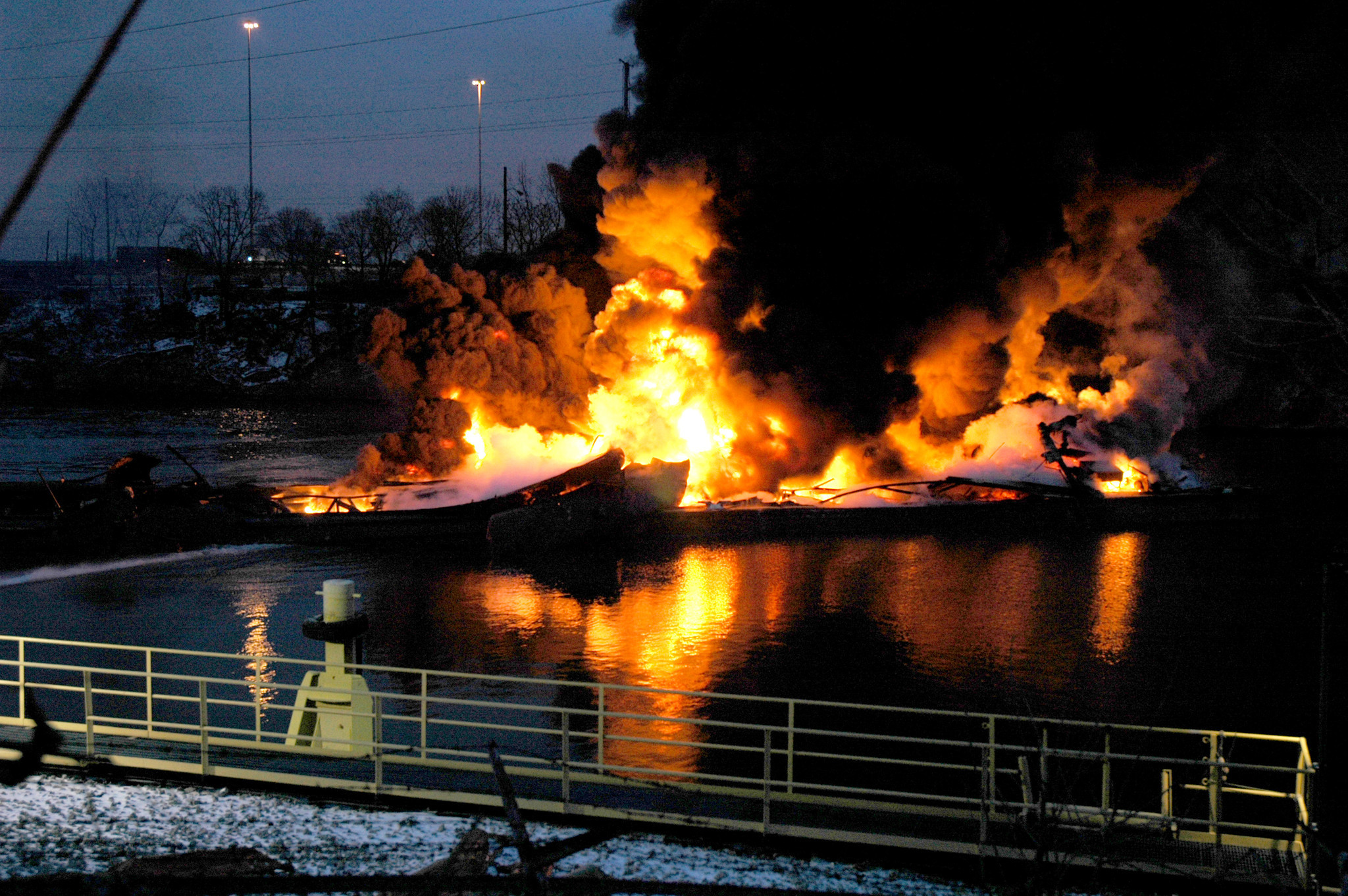 Federal authorities are investigating Egan and Egan Marine after a barge explosion that killed a 29-year old worker and released thousands of gallons of oil into a Chicago shipping canal.