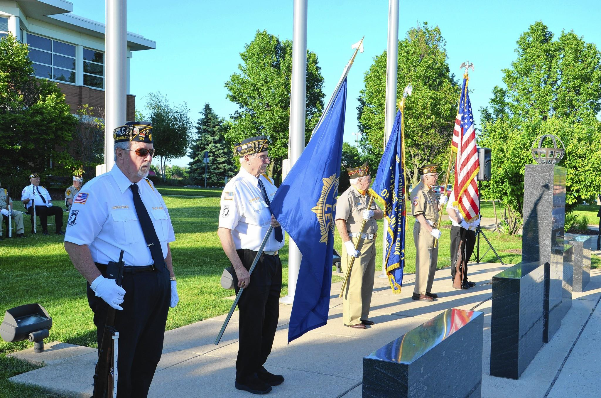 At the Orland Park Veterans' Memorial Friday, the 70th anniversary of D-Day, Orland Park honored area World War II veterans.