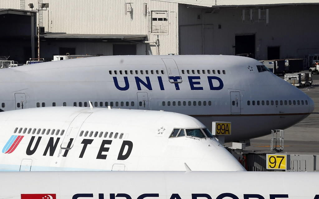 United Airlines planes sit on the tarmac at San Francisco International Airport earlier this year.
