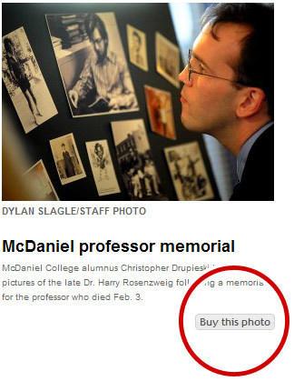 screenshot of photo reprint link