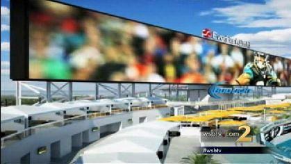 Jacksonville jaguars stadium adding poolside 39 party deck - Jacksonville jaguars swimming pool ...