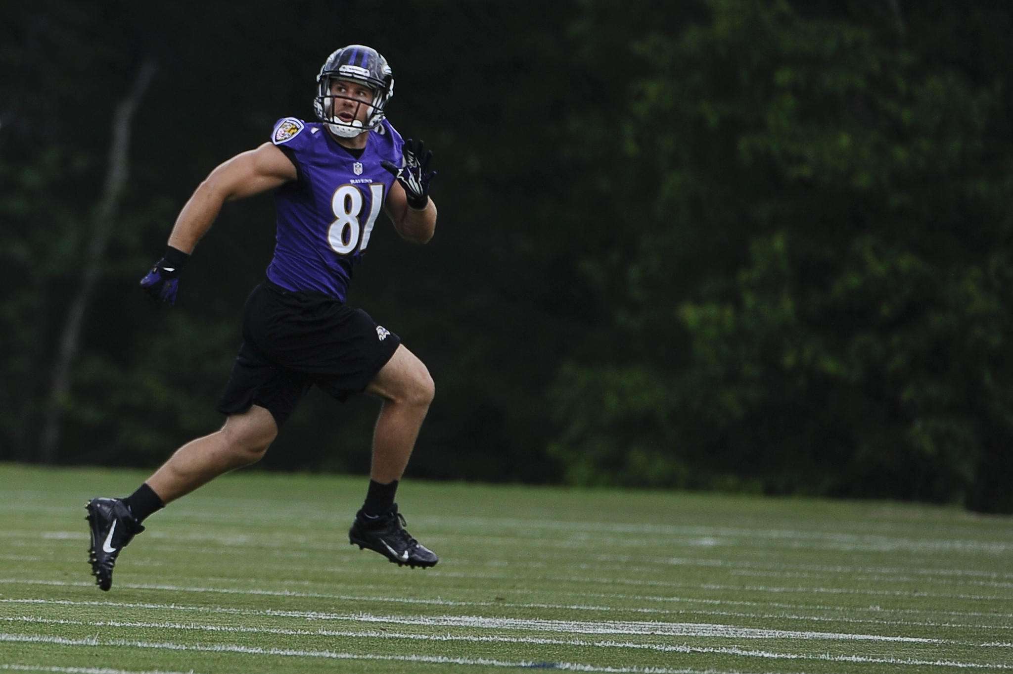 Tight end Owen Daniels participates in organized team activities.