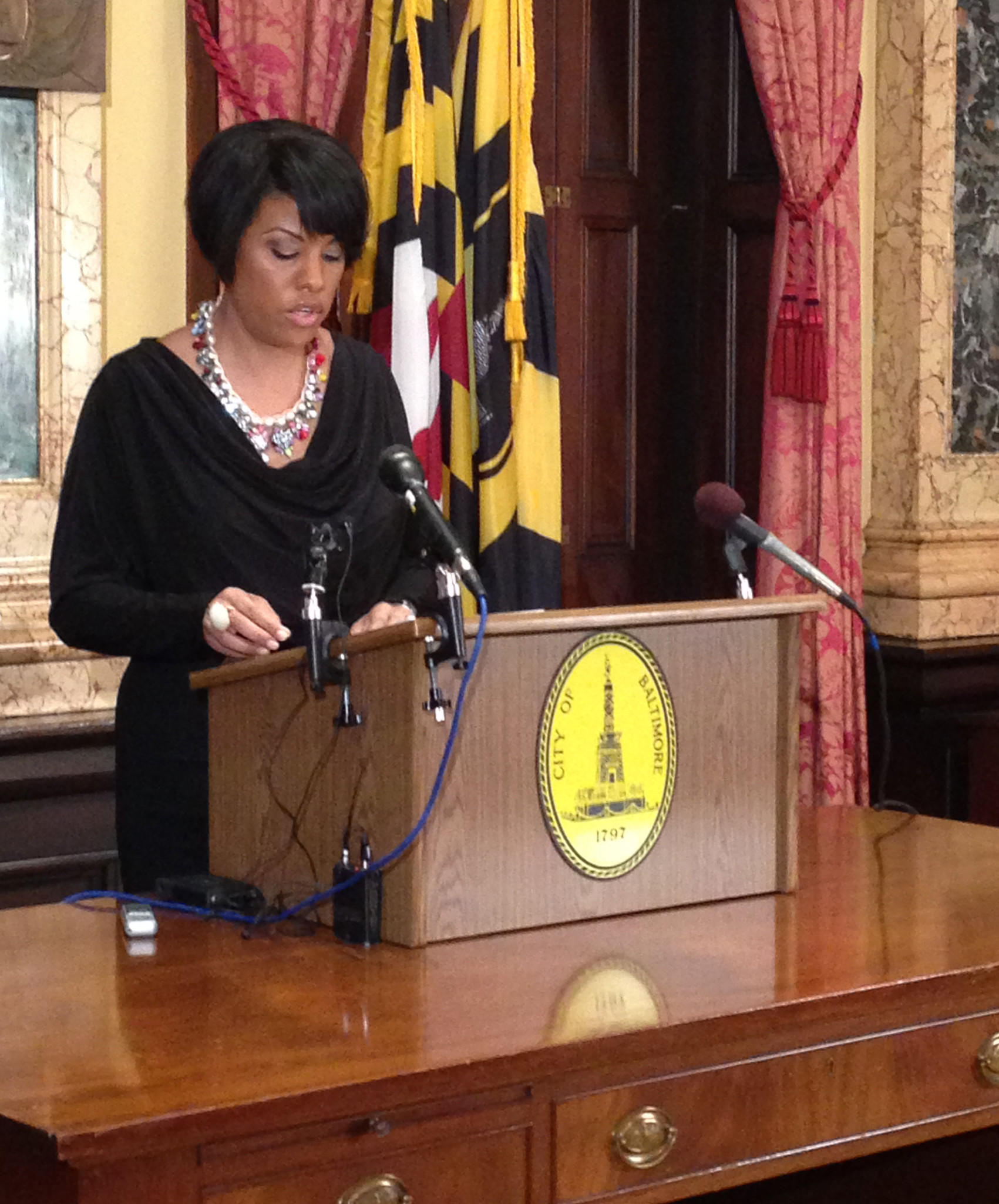 Baltimore Mayor Stephanie Rawlings-Blake is shown in a file photo.
