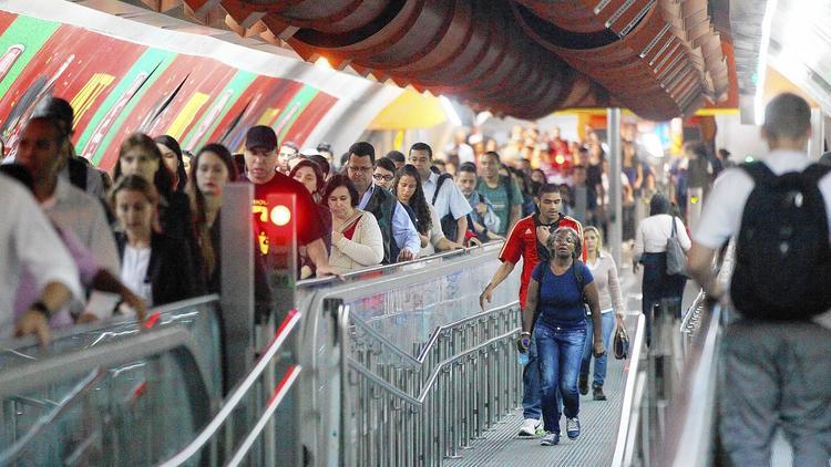 Sao Paulo commuters